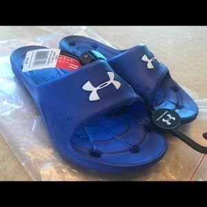 3d005ab74170 Under Armour Shoes - 🆕Under Armour Men s 11 Royal Blue Slides Sandals